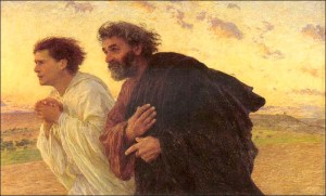 peter and john running to the tomb by burnand