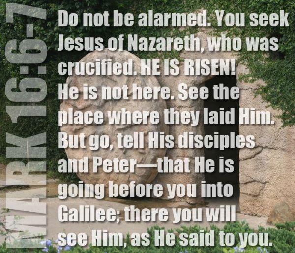 Mark 16-6-7