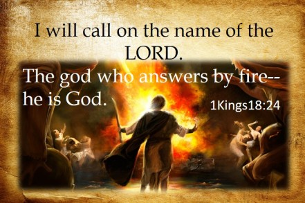 the god who answers with fire