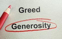 Generosity or Greed 1
