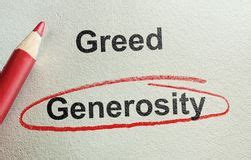 Generosity or Greed 1