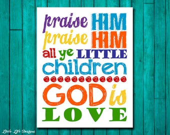 Jesus being praised by children